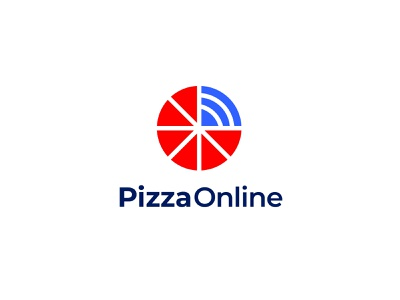 Pizza Online Logo Design app logo flat simple design pizza minimalist logo logo branding logo design
