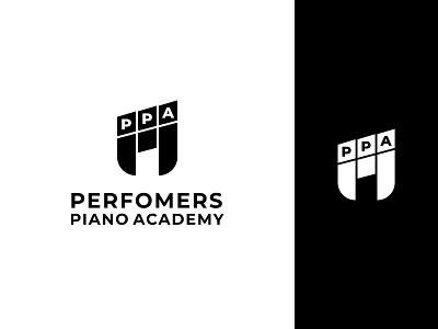 PPA LOGO design logo illustration ui piano typography minimalist logo app logo branding logo design