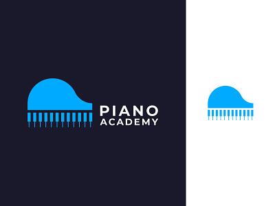 Piano Academy Logo Design design logo illustration piano ui vector typography minimalist logo app logo branding logo design