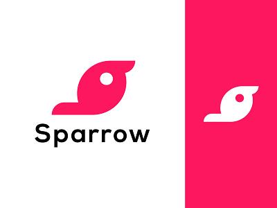Sparrow Bird Logo design logo ui illustration vector bird brid logo typography minimalist logo app logo branding logo design