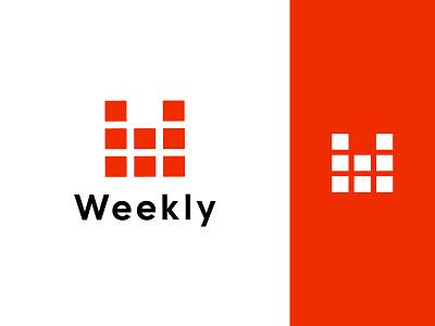 Weekly Logo Design design logo ui vector illustration typography weekly calendar minimalist logo app logo branding logo design