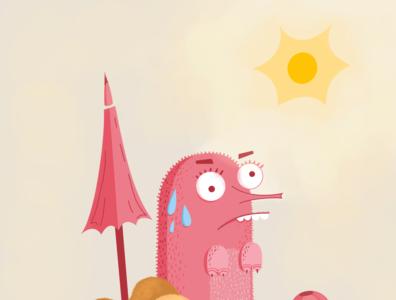 On the beach beautiful fantasy beach characterdesign illustration