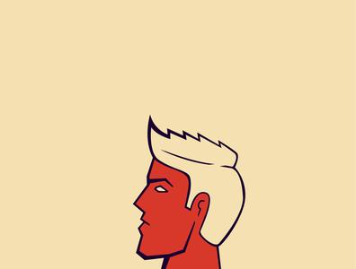 Genetics cuban red men goodlooking strong man illustration characterdesign