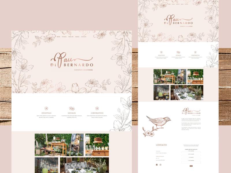 Event Planner Website design website web design