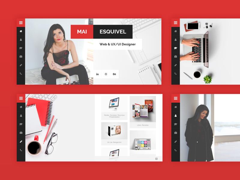 Portfolio Website cv resume web website web design design ui portfolio