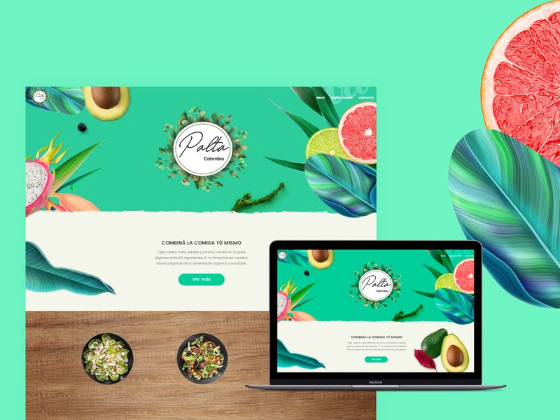 Organic Food Website food colors organic food website web website web design ui design