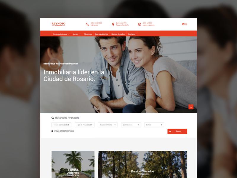 Real Estate Website web website ui design web design real estate