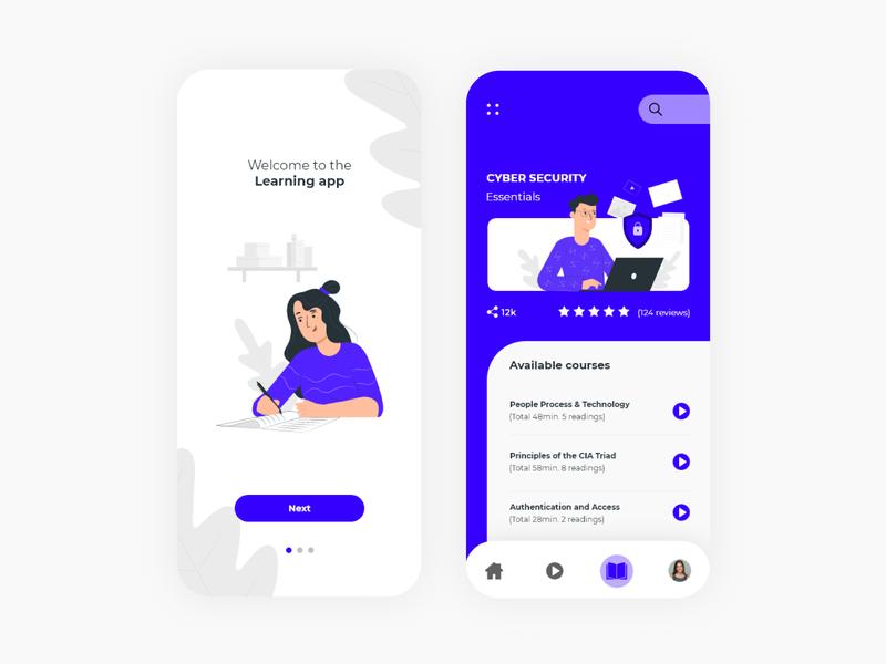 Education App mobile app ux design uidesign uxui colors app ui design