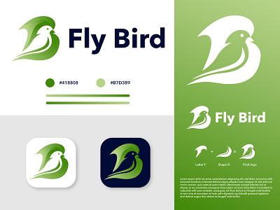 Fly Bird logo design logo design modern design vector modern logo latter logo wordmark logo illustration logotype typography minimalism symbol minimalist logo brand identity minimal branding