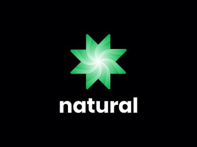 Natural logo -  Organic logo green logo 2021 logo 2021 trend trending logo wordmark logotype modern logo typography minimal symbol branding minimalism minimalist brand identity startups startup logo organic logo