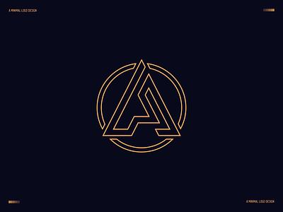 A logo  - A minimal logo - SImple logo startup branding startup startup logo company logo business minimalist logo a letter logo logotype modern logo typography minimal minimalism logo brand identity branding abstract minimalist app a logo design a logo