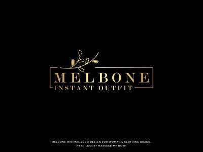 Melbone Logo - Fashion logo - Clothing logo - Luxury logo gold foil elegent luxury brand luxury logo apperal fashion logo clothing logo clothing design m logo melbone logo logotype modern logo typography logo minimalism minimal minimalist brand identity symbol branding
