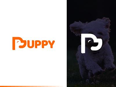 Puppy Logo - Pet Logo - Dog Logo - Minimalist logo ui animal logo dog logo dog pet logo petshop pet puppy logo puppy dog puppy modern logo minimal wordmark logo logotype typography minimalism minimalist brand identity symbol branding