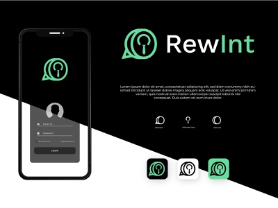 Rewint Coin logo - Interview Logo - App Icon Logo r logo startup logo minimal 3d icon logo app logo app icon ui design illustration minimalism minimalist symbol brand identity interview logo coin logo reward logo logo branding logo design