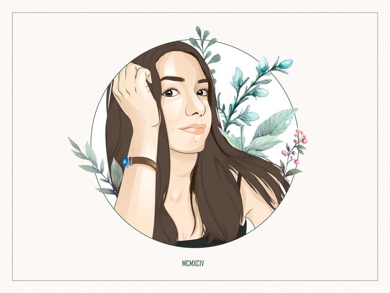 Self-Portrait illustrations character portrait art cartoon self-portrait portrait design vector illustration illustration