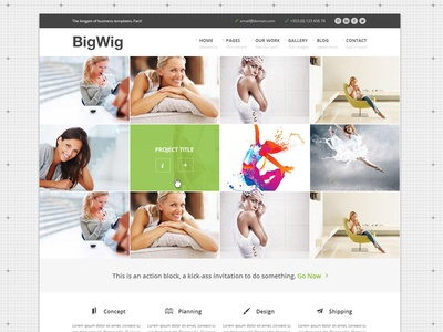Bigwig Business Website Projects Homepage website grid responsive ui web design template business homepage corporate fullscreen fullwidth html5