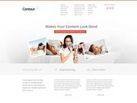 Contour Website Homepage Header Design