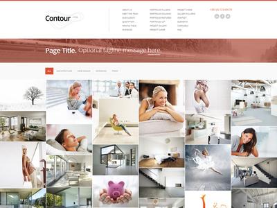 Contour Website Full Width Responsive Masonry Gallery responsive grid gallery masonry portfolio website web design layout minimal clean template