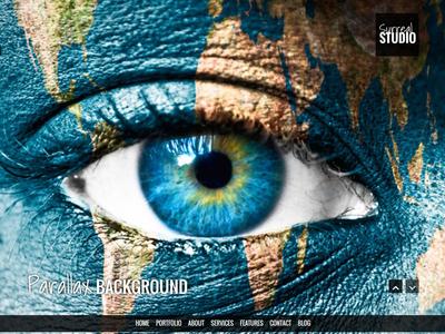 Surreal - Parallax WordPress Website - Home wordpress theme responsive dark creative website ui parallax themeforest