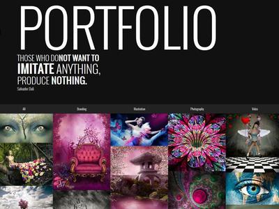 Surreal - Parallax WordPress Website - Portfolio theme one page web design responsive portfolio ui wordpress typography