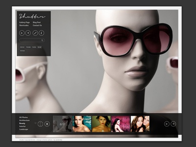Shutter Minimal Photography WordPress Theme wordpress theme web design ui gallery ios