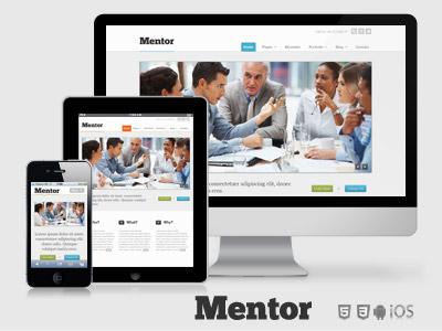 Mentor - responsive premium html5 business template website responsive ui business design template lightbox slider themeforest