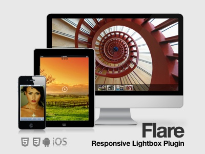 Flare Responsive Mobile Optimized Lightbox Plugin plugin lightbox responsive jquery ui design website gallery video iphone ipad tablet mobile