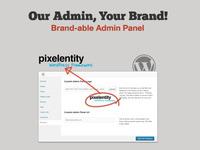 Pixelentity WordPress Framework - Brandable Admin