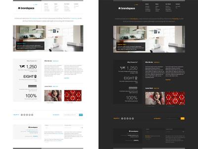 Brandspace Responsive WordPress Theme wordpress theme responsive minimal website homepage wed design light dark skin info-graphics