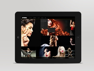 Hydra - Fullscreen Portfolio with Intelligent Grid algorithm design website ui themeforest fullscreen grid isotope photography ios