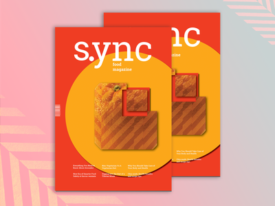 "Magazine cover ""S.ync"" ui typography concept design colorful magazine layout magazine cover magazine design editorail foodmagazine deisgnmagazine magazinecover magazine cover"