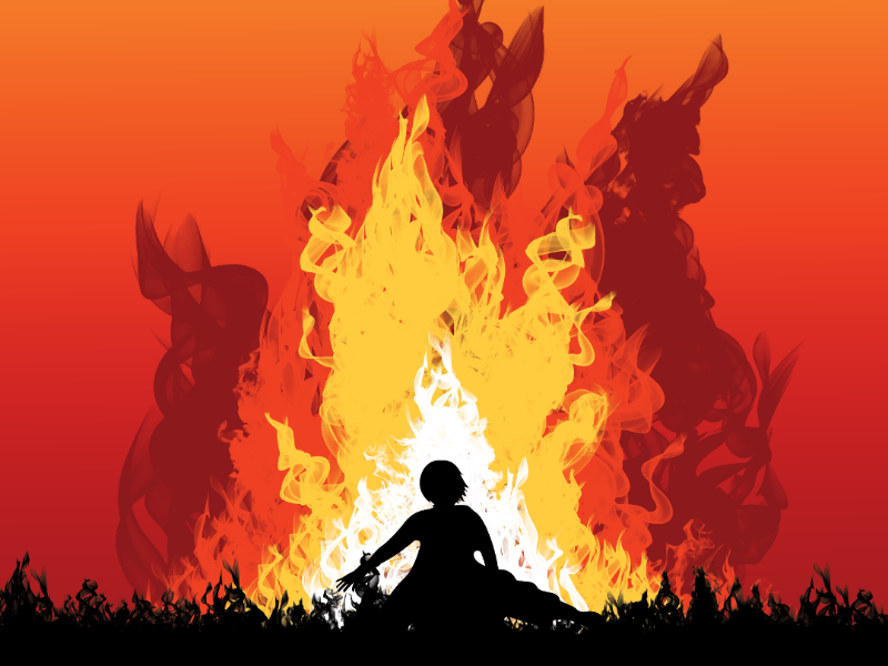 Fire illustrator the last airbender design wallart illustration poster graphic design fire avatar