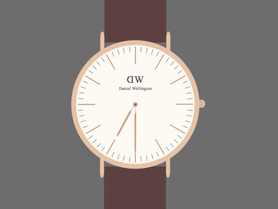 Daniel Wellington - Bristol sketchapp design illustration daniel wellington watch flat fashion sketch app
