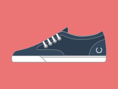 Fred Perry - Foxx Fine Canvas sketchapp sketch app illustration flat design fashion shoe