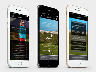 Galvin Green - Weather forecast app ui ux design golf