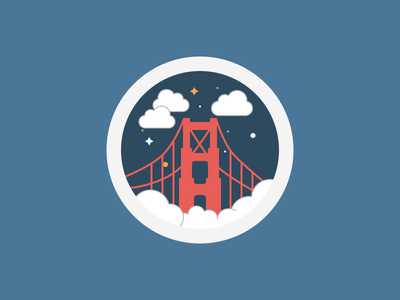 San Francisco flat illustration holiday usa golden gate san francisco