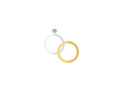 Wedding Rings ring wedding rings wedding minimalistic flat illustration