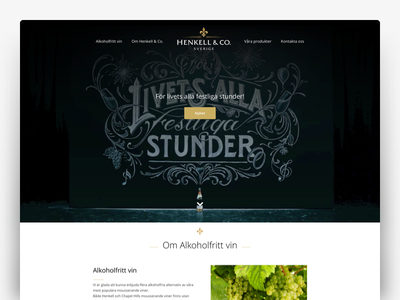 Henkell & Co ux web wine ui website