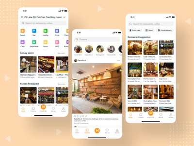 Capi food delivery uidesign ui ux app drink food  drink ux design delivery food and drink food app
