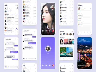 Messaging app uidesign ux design uiux message chat app