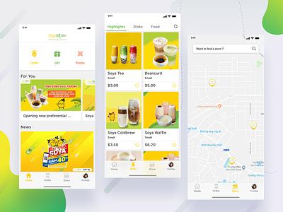 Soya Garden App xd ui ux uidesign design ux design ui food  drink food app app drink ux flat app soya garden soya trend 2019