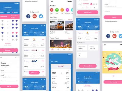 Flight Booking App ux design ux ticket booking flight booking flight app travel app