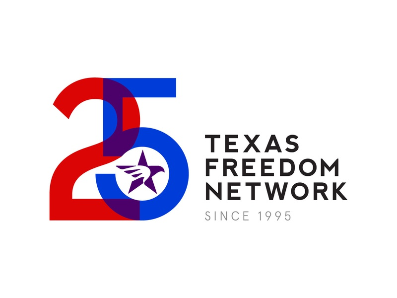 25 Years of TFN. tyopography texas political logo