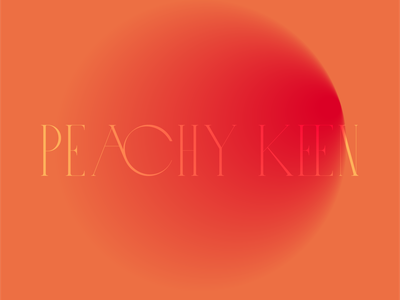 Keen. mixes warm peach gradient typography album artwork