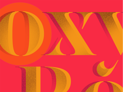 Channeling Summer in the dead of Winter. stencil serif endless typography summer branding