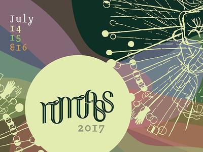 Gettin' Handsy. vibraphone vibes rainbow event poster design summit festival
