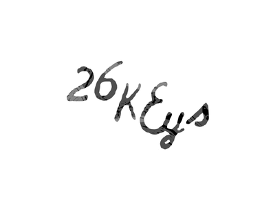 26Keys. rough 26 texture type logo