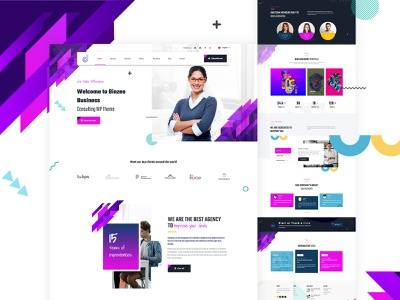 Business consulting ui agency company corporate design business