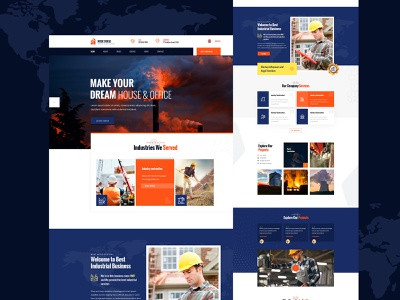 industry Home Page portfolio company design ui corporate industry
