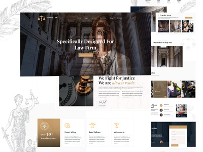 Law Firm Template corporate ui business design company creative agency landing page lawyer law firm